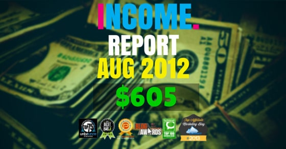 Monthly Income, Growth & Traffic Report – August 2012
