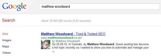Matthew Woodward Search