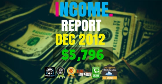 Monthly Income, Growth & Traffic Report – December 2012