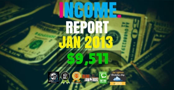 Monthly Income, Growth & Traffic Report – January 2013