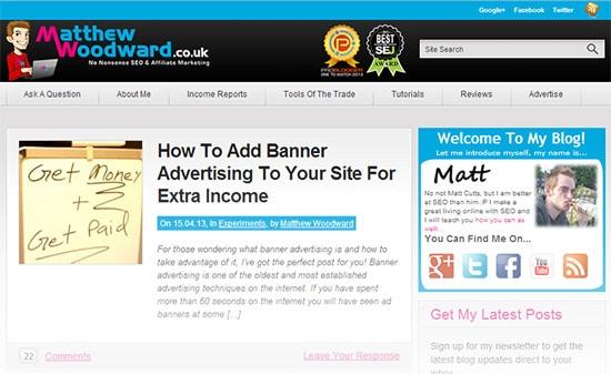 Meet Matthew Woodward from MatthewWoodward co uk - Blogging Tips