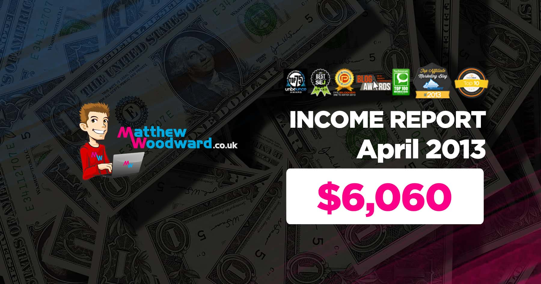 Monthly Income, Growth & Traffic Report - April 2013