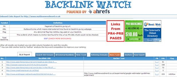 backlink watch competitive analysis