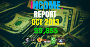 Monthly Income, Growth & Traffic Report – October 2013