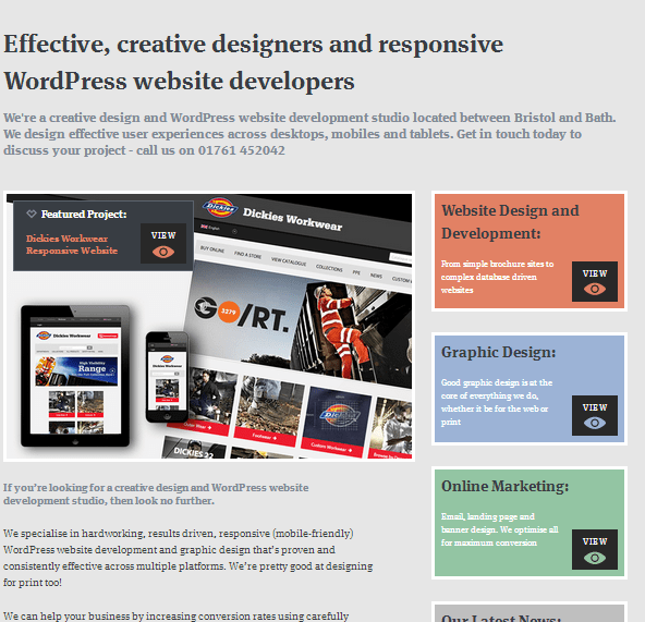 Landing page design example 8