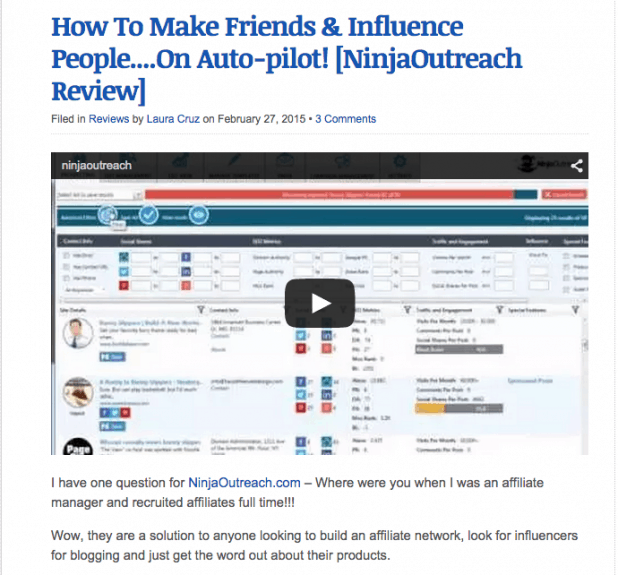 monetizing a blog with product reviews