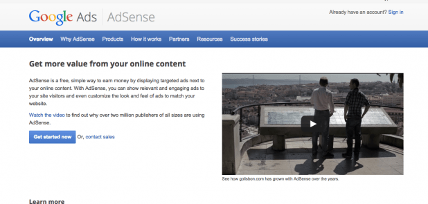 how to monetise your blog with Google Adsense