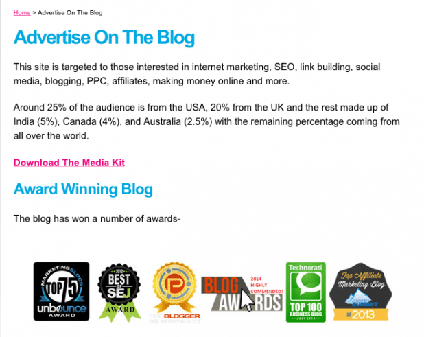 Monetise blog with Adverts