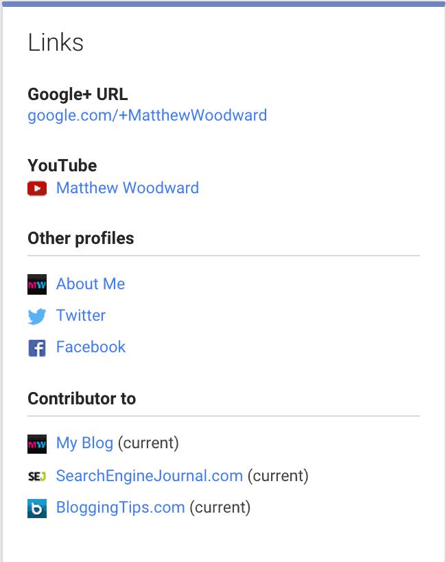 Google Plus social backlinks
