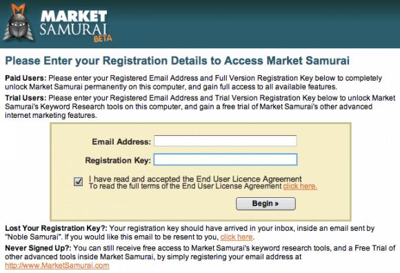 market samurai keyword research tool free registration