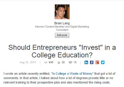 LinkedIn Entrepreneur College