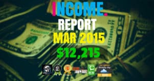 Monthly Income, Growth & Traffic Report – March 2015