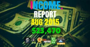 Monthly Income, Growth & Traffic Report – August 2015