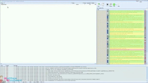 GSA Search Engine Ranker interface