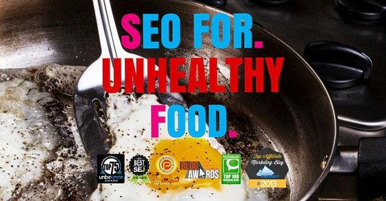 seo strategy for unhealthy food
