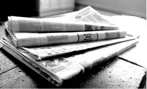 Journalist writing