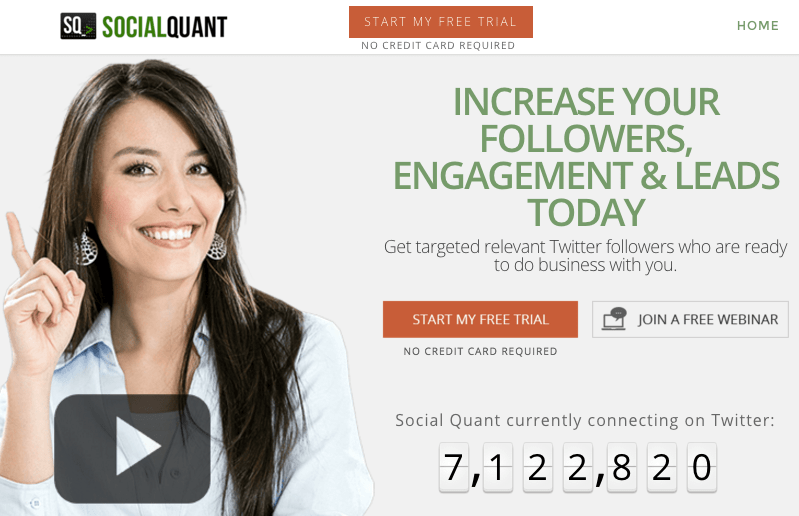 increase Twitter followers with Social Quant