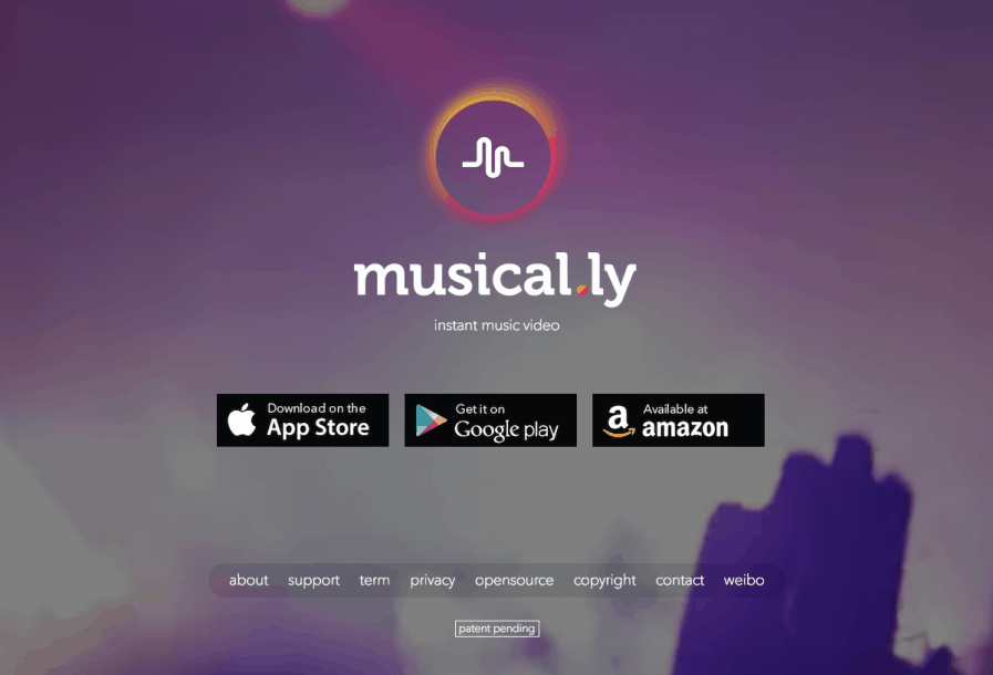 musical.ly homepage