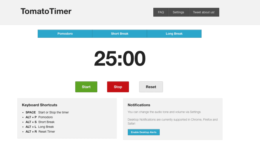 tomato timer screenshot