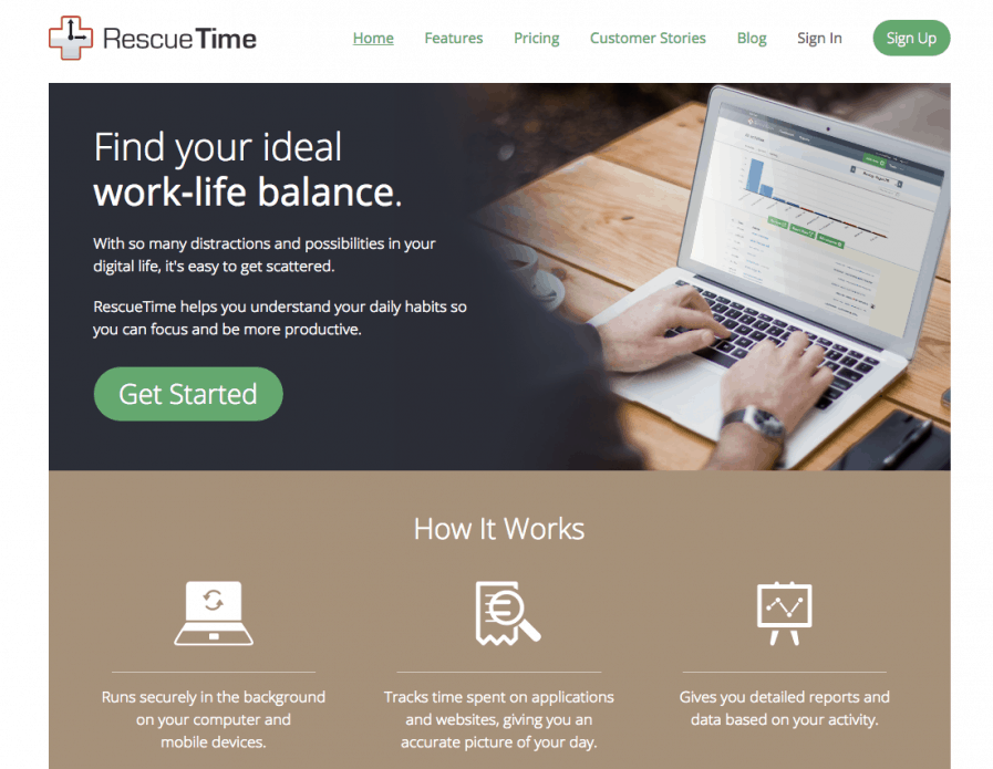 rescuetime productivity tools