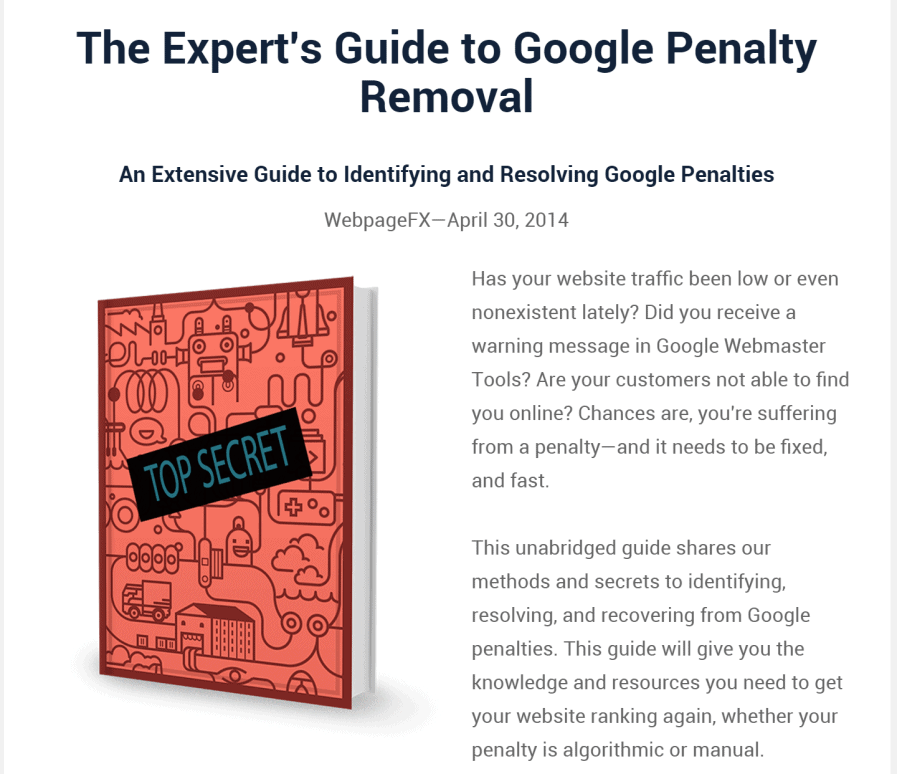 experts guide to google penalty removal