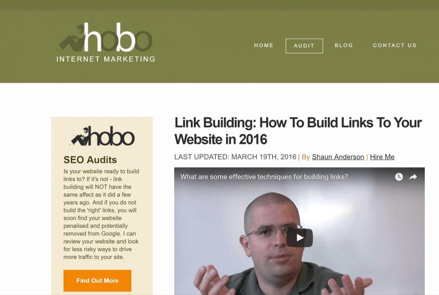 hobo web how to build links 2016
