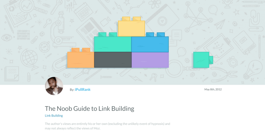 the noob guide to link building
