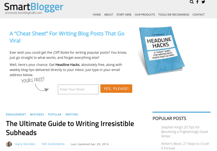 smartblogger compelling subheads