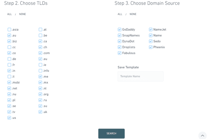 expired domains step two and three