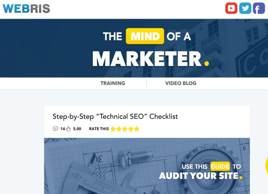 webris technical seo audit