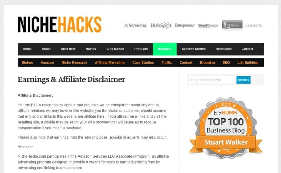 amazon affiliate page