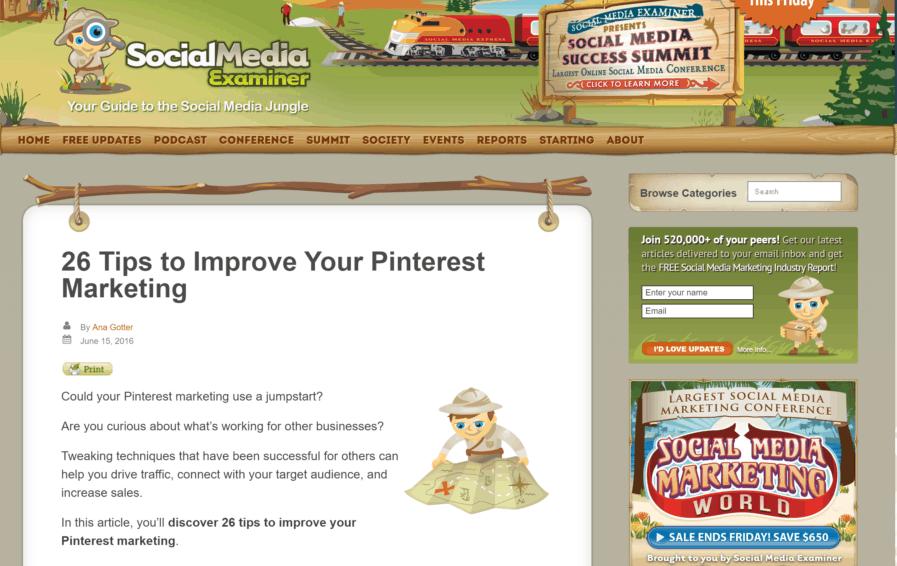 social media examiner pinterest