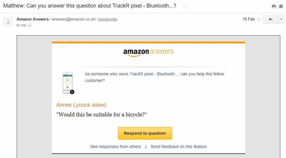 Amazon customer reviews example