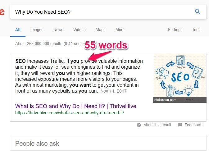 Featured Snippet Search