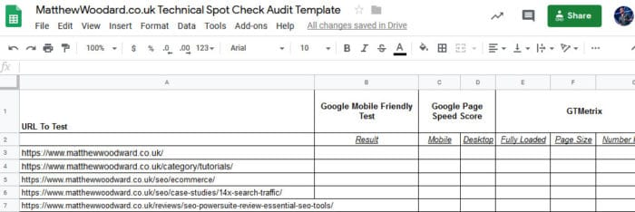 download seo audit spot check spreadsheet template