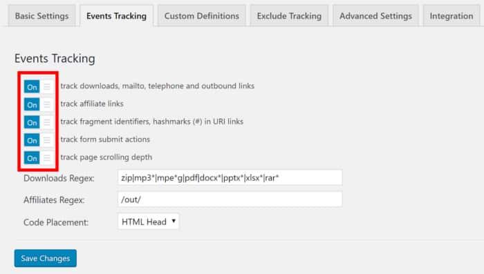 Google Analytics Events Tracking 2